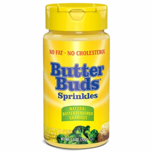 Butter Buds Butter Flavored Sprinkles Perspective: front