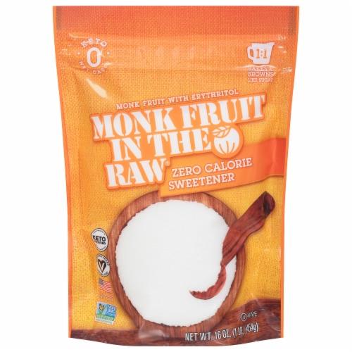 Monk Fruit in the Raw Zero Calorie Sweetener Perspective: front