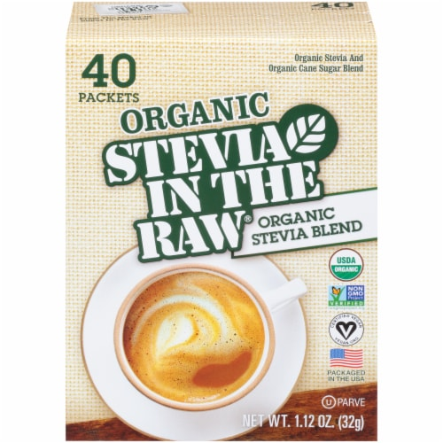 Stevia In The Raw Organic Stevia Blend Packets Perspective: front