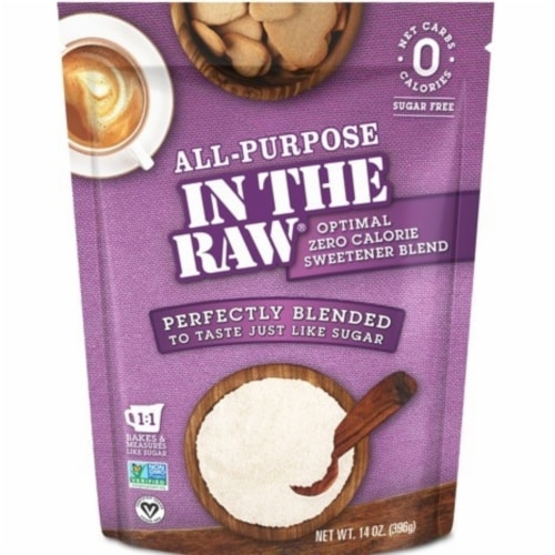 In The Raw All-Purpose Zero Calorie Sweeener Perspective: front