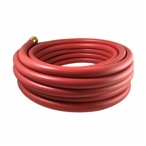 Flexon 1/2 x 50ft Red Hot Water Rubber Garden Hose Perspective: front