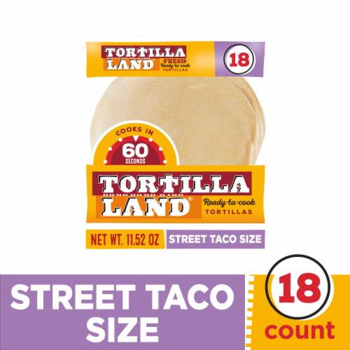 Tortilla Land Ready-to-Cook Street Taco Flour Tortillas Perspective: front