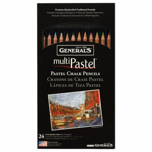 General's Multi Pastel Chalk Pencils Perspective: front