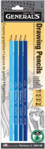 General's Magna Graphite Drawing Pencil - 4 Count Perspective: front