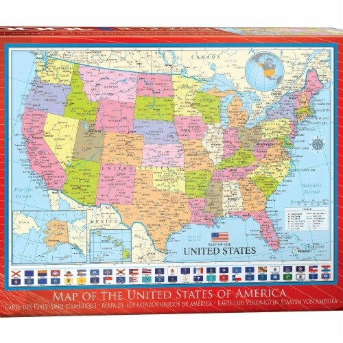 Eurographics 30377025 Map of the United States Puzzle - 1000 Piece Perspective: front