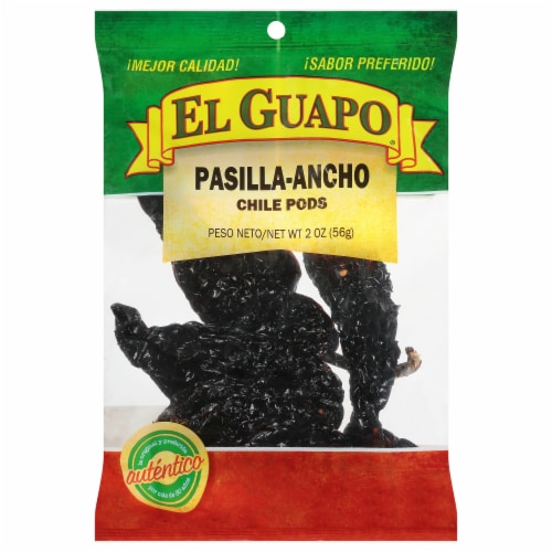 El Guapo Pasilla Ancho Chile Pods Perspective: front