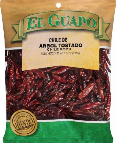 El Guapo Chile de Arbol Tostado Chile Pods Perspective: front