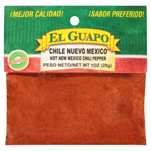 El Guapo Chile Nuevo Mexico Molida Hot Chili Powder Perspective: front