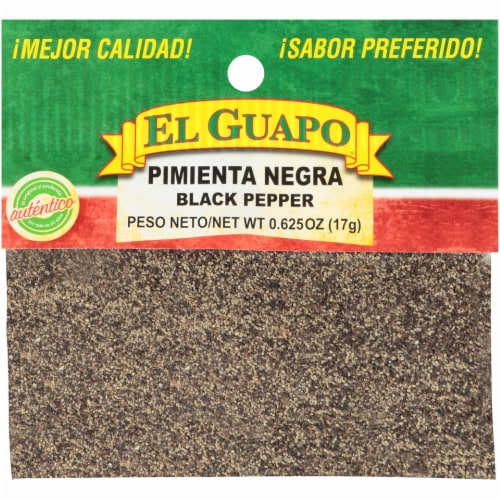 El Guapo Pimienta Negra Ground Black Pepper Perspective: front