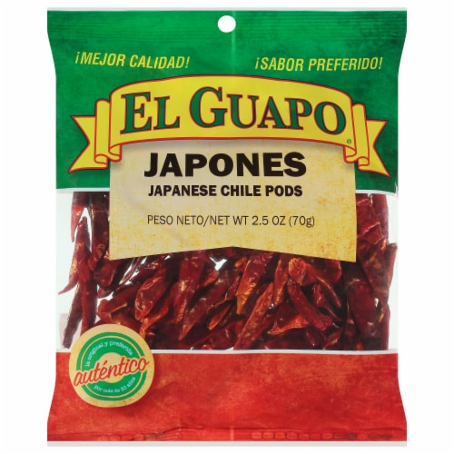 El Guapo Whole Japanese Chile Pods Perspective: front