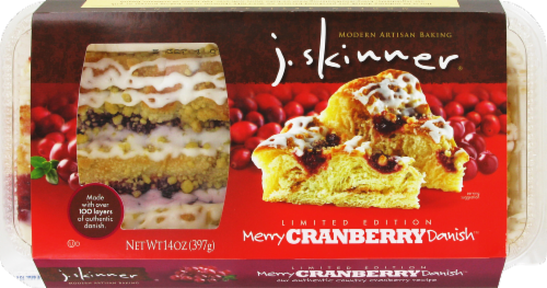 J Skinner Merry Cranberry Danish Perspective: front