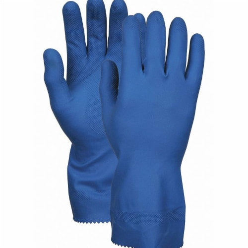 Mcr Safety Chemical Gloves,S,12 in. L,Blue,PK12  5171BE Perspective: front