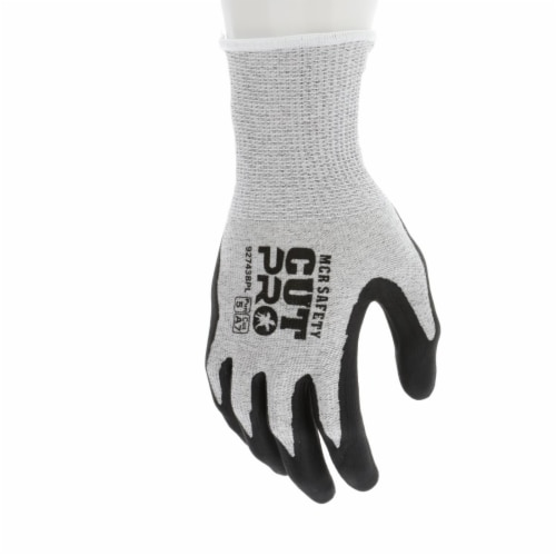 MCR Safety 127-92743BPM 13 gal HPPE Shell WBI-Polymer Resistant Black Work Gloves with Bi-pol Perspective: front