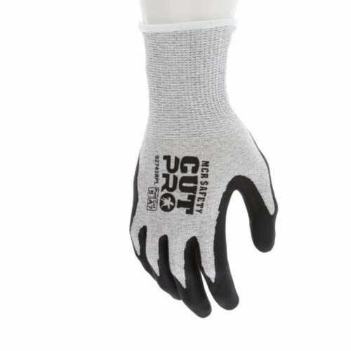 MCR Safety 127-92743BPS 13 gal HPPE Shell WBI-Polymer Resistant Black Work Gloves with Bi-pol Perspective: front