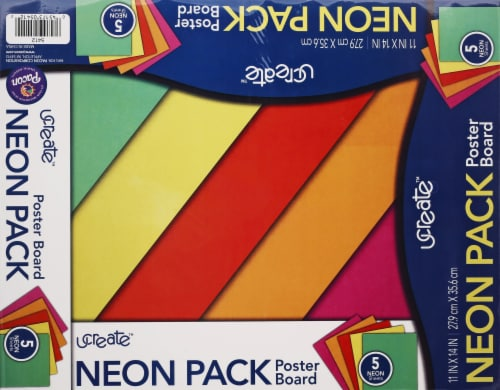 Pacon Neon Poster Boards - 5 Pack Perspective: front