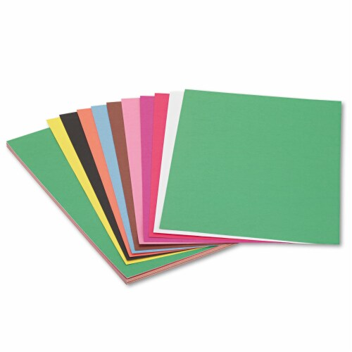Sunworks Construction Paper, 58lb, 12 X 18, Assorted, 50/Pack 6507 Perspective: front
