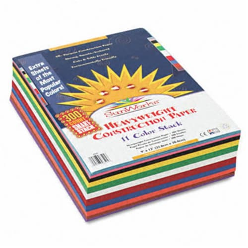 Sunworks Construction Paper Smart-Stack, 58lb, 9 X 12, Assorted, 300/Pack 6525 Perspective: front