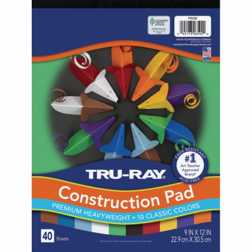 Tru-Ray Premium Heavyweight Construction Paper Pad - 40 Sheets Perspective: front