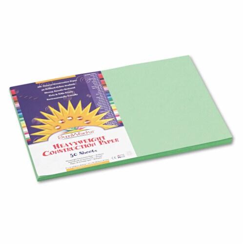 Sunworks Construction Paper, 58lb, 12 X 18, Light Green, 50/Pack 8107 Perspective: front