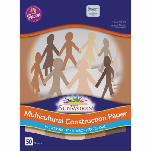 Pacon Multicultural Construction Paper - 50 Pack Perspective: front