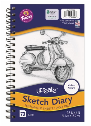 Pacon Sketch Diary - White Perspective: front