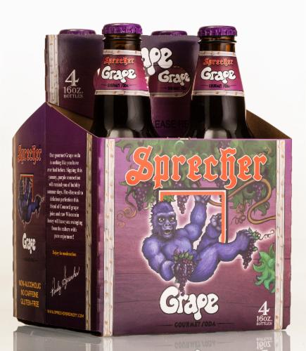 Sprecher Gorilla Grape Gourmet Soda Perspective: front
