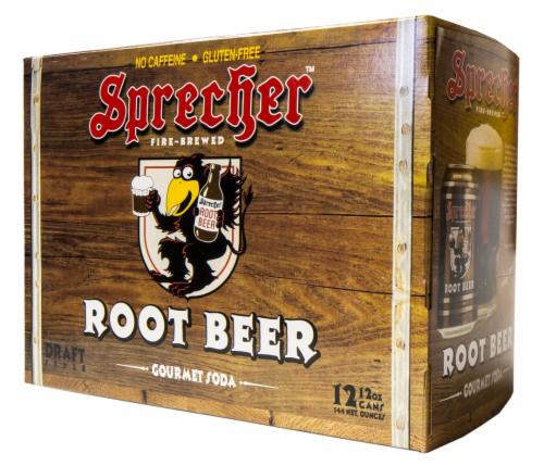 Sprecher Root Beer Gourmet Soda Perspective: front