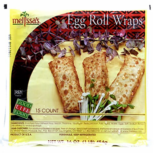 Melissa's Egg Roll Wraps 15 Count Perspective: front