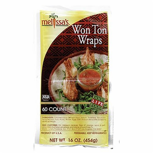 Melissa's Won Ton Wraps 60 Count Perspective: front