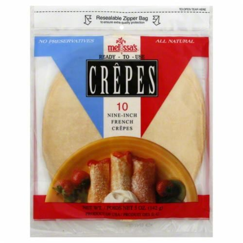 Melissa's Nine-Inch French Crepes 10 Count Perspective: front
