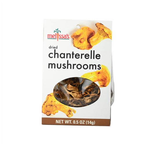Melissa's Chanterelle Dried Wild Mushrooms Perspective: front
