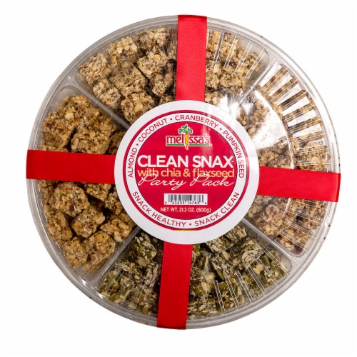 Melissa's Clean Snax Party Pack Tray Perspective: front