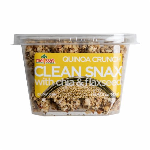 Melissa's Clean Snax Quinoa Crunch with Chia and Flaxseed (Approximate Delivery is 3-5 Days) Perspective: front