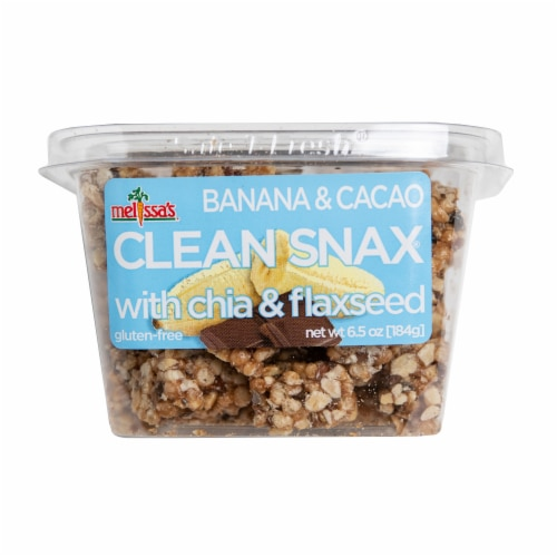 Melissa's Banana and Cacao Clean Snax Gluten-Free Snack (Approximate Delivery is 3-5 Days) Perspective: front