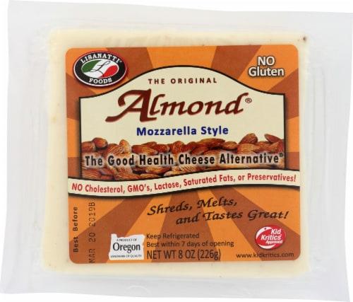 Lisanatti Foods Almond Mozzarella Style Cheese Perspective: front
