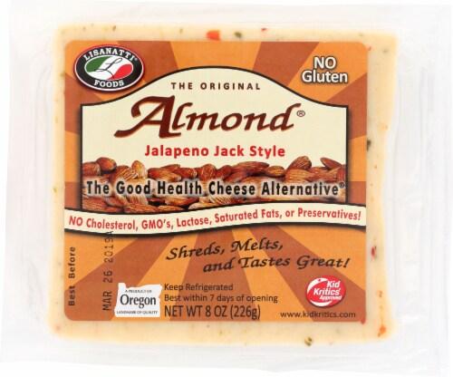 Lisanatti Foods The Original Almond Jalapeno Jack Cheese Alternative Perspective: front