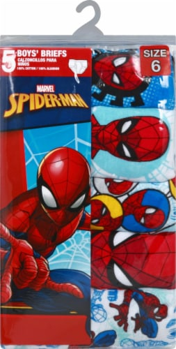 Marvel Ultimate Spider-Man Boys' Cotton Briefs - 5 Pack Perspective: front