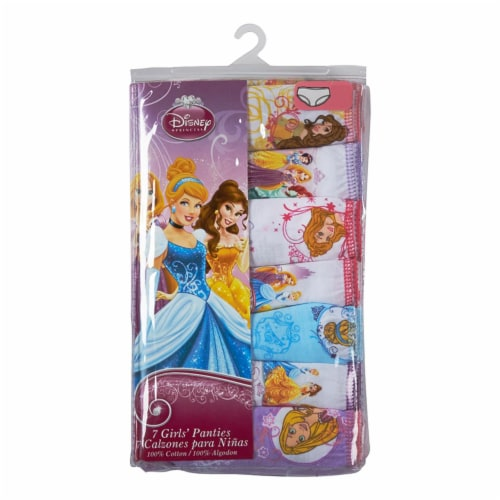 Disney Princess Girls' Cotton Panties - 7 Pack Perspective: front