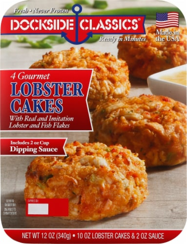 Dockside Classics Lobster Cakes 4 Count Perspective: front