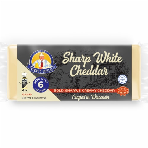 Steve's Cheese Sharp White Cheddar Loaf Perspective: front