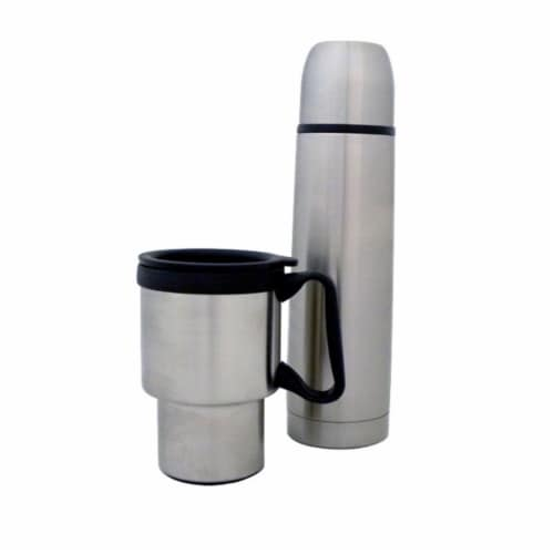 Barjan Stainless Steel Travel Mug and Thermal Bottle Perspective: front