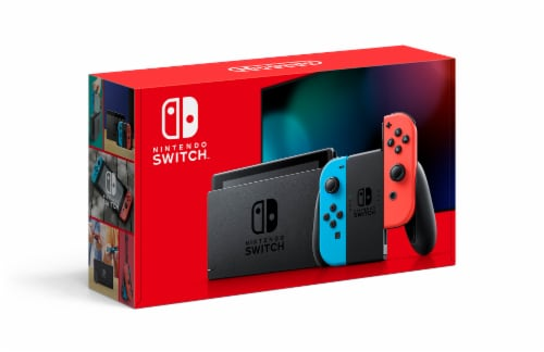 Nintendo Switch with Joy-Cons - Blue/Red Perspective: front