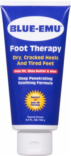 Blue-Emu Dry Cracked Heels and Tired Feet Foot Therapy Perspective: front