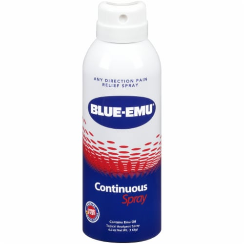 Blue-Emu Maximum Strength Back Pain Relief Spray Perspective: front