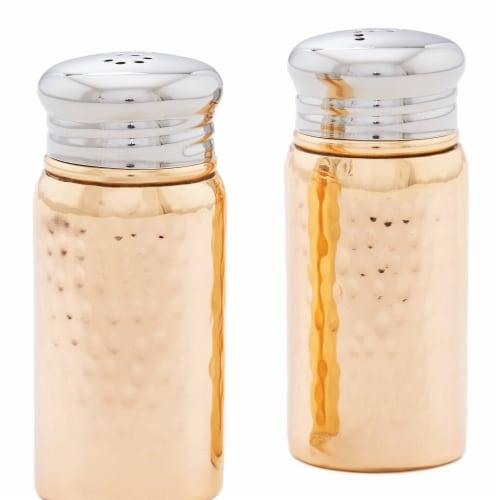 Old Dutch International 3.25 in. Hammered Salt & Pepper Shaker Set, Copper Perspective: front