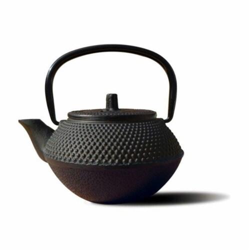 Old Dutch International 1015MB Matte Black Cast Iron Tokyo Teapot 11 Oz Perspective: front
