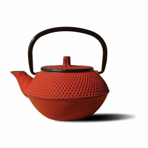 Old Dutch International 1015RD Red Cast Iron Tokyo Teapot 11 Oz Perspective: front