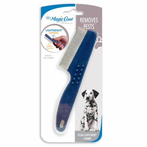 Four Paws Magic Coat Removes Pests Flea Catcher Comb Perspective: front