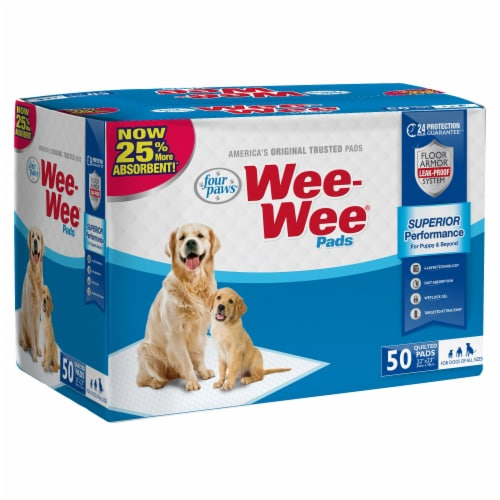 Four Paws Wee-Wee Housebreaking Pads Perspective: front