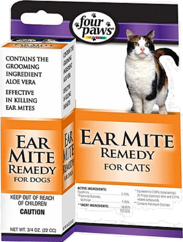 Four Paws Ear Mite Remedy For Cats Perspective: front